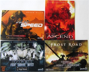 PCB 2013 Comic-Con promo card set Ascend Dead Speed Frost Road Infex