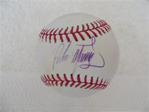 Pedro Martinez autographed MLB baseball (faded)
