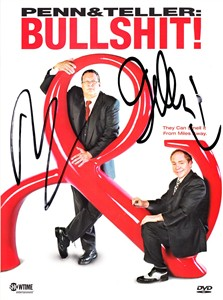 Penn and Teller autographed Bullshit! Complete First Season DVD set