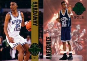 Penny Hardaway Memphis 1993 Classic 4-Sport Gold 2 card set (1 of 3900)