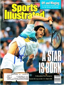 Pete Sampras autographed 1990 U.S. Open Sports Illustrated