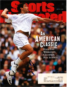 Pete Sampras autographed 1997 Wimbledon Sports Illustrated