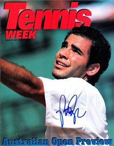 Pete Sampras autographed 2000 Tennis Week magazine