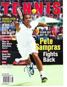 Pete Sampras autographed 2001 Tennis magazine