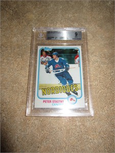 Peter Stastny 1981-82 Topps Rookie Card graded BGS 9 MINT