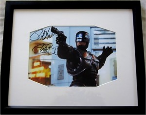 Peter Weller autographed Robocop 8x10 movie photo matted & framed