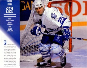 Peter Zezel autographed Toronto Maple Leafs 1994 calendar photo
