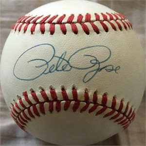Pete Rose autographed National League baseball