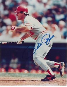 Pete Rose autographed Cincinnati Reds 8x10 photo