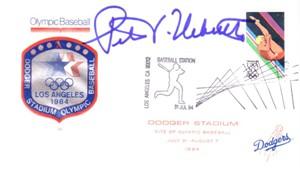 Peter Ueberroth autographed 1984 Los Angeles Olympics baseball cachet envelope