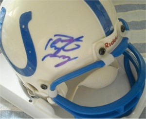 Peyton Manning autographed Indianapolis Colts mini helmet