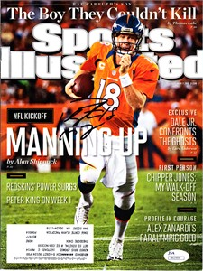 Peyton Manning autographed Denver Broncos 2012 Sports Illustrated (JSA)