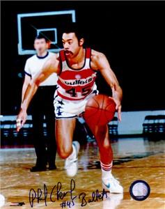 Phil Chenier autographed Washington Bullets 8x10 photo