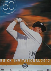 Phil Mickelson autographed 2002 Buick Invitational PGA Tour golf poster