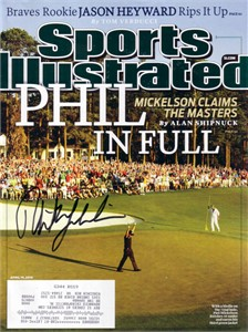 Phil Mickelson autographed 2010 Masters Sports Illustrated
