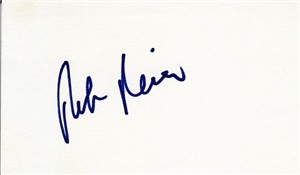 Phil Nevin autographed index card