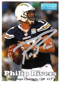 Philip Rivers autographed San Diego Chargers Rivers of Hope football card