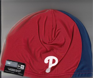 Philadelphia Phillies New Era Authentic Collection red and blue knit beanie cap or hat NEW WITH TAGS