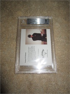 Phil Mickelson 2006 Callaway Golf promo card graded BGS 9 MINT