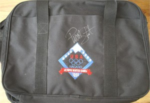 Picabo Street autographed 1998 USA Winter Olympic Games laptop or portfolio bag