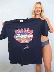 Picabo Street & Jill Bakken autographed 2002 Winter Olympics T-shirt