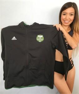 Portland Timbers Adidas black fleece lined jacket 2XL NEW