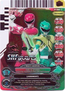 Power Rangers 2013 Comic-Con promo game card P-189 MINT