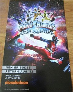 Power Rangers Ninja Steel 2017 Comic-Con mini 11x17 Nickelodeon poster