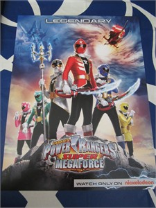 Power Rangers Super Megaforce 2014 Comic-Con Nickelodeon 11x17 promo poster