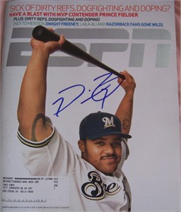 Prince Fielder autographed Milwaukee Brewers 2007 ESPN Magazine