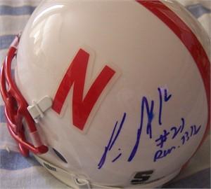 Prince Amukamara autographed Nebraska Cornhuskers mini helmet