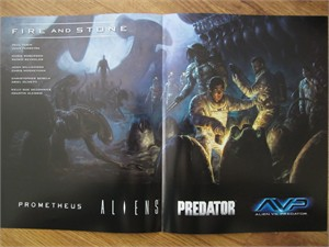 Prometheus Fire and Stone 2014 Comic-Con Dark Horse Comics mini 11x17 promo foldout poster