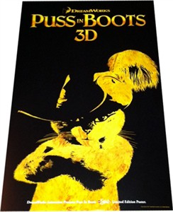 Puss in Boots 3D mini movie poster (AMC exclusive limited edition)