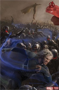 Quicksilver Avengers 2 Age of Ultron 2014 Comic-Con exclusive promo Marvel movie poster