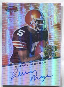 Quincy Morgan certified autograph Cleveland Browns 2001 Bowman's Best card