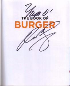 Rachael Ray autographed The Book of Burger