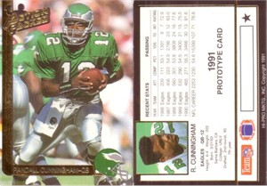 Randall Cunningham 1991 Action Packed promo or prototype card