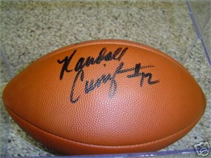 Randall Cunningham autographed Wilson NFL replica football