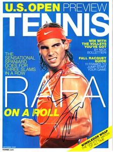 Rafael Nadal autographed 2008 Tennis magazine