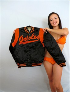 Rafael Palmeiro autographed Baltimore Orioles 1990s style Starter authentic game model dugout jacket