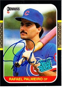 Rafael Palmeiro autographed Chicago Cubs 1987 Donruss Rookie Card