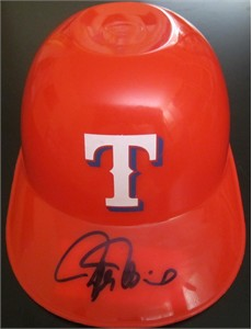 Rafael Palmeiro autographed Texas Rangers mini batting helmet