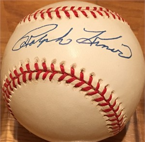 Ralph Kiner autographed National League baseball
