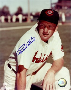 Ralph Kiner autographed Cleveland Indians 8x10 photo