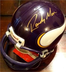 Randy Moss autographed Minnesota Vikings mini helmet (UDA)