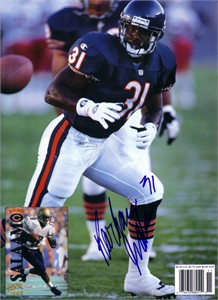 Rashaan Salaam autographed Chicago Bears Beckett Football back cover photo