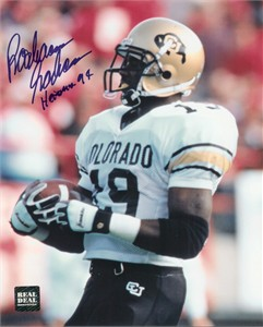 Rashaan Salaam autographed Colorado Buffaloes 8x10 photo inscribed Heisman 94