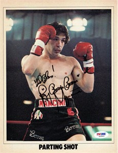 Ray (Boom Boom) Mancini autographed boxing magazine full page photo (PSA/DNA)