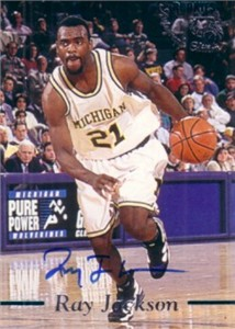 Ray Jackson certified autograph Michigan Fab Five 1995 Classic Basketball Rookies card