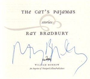 Ray Bradbury autographed The Cat's Pajamas hardcover book